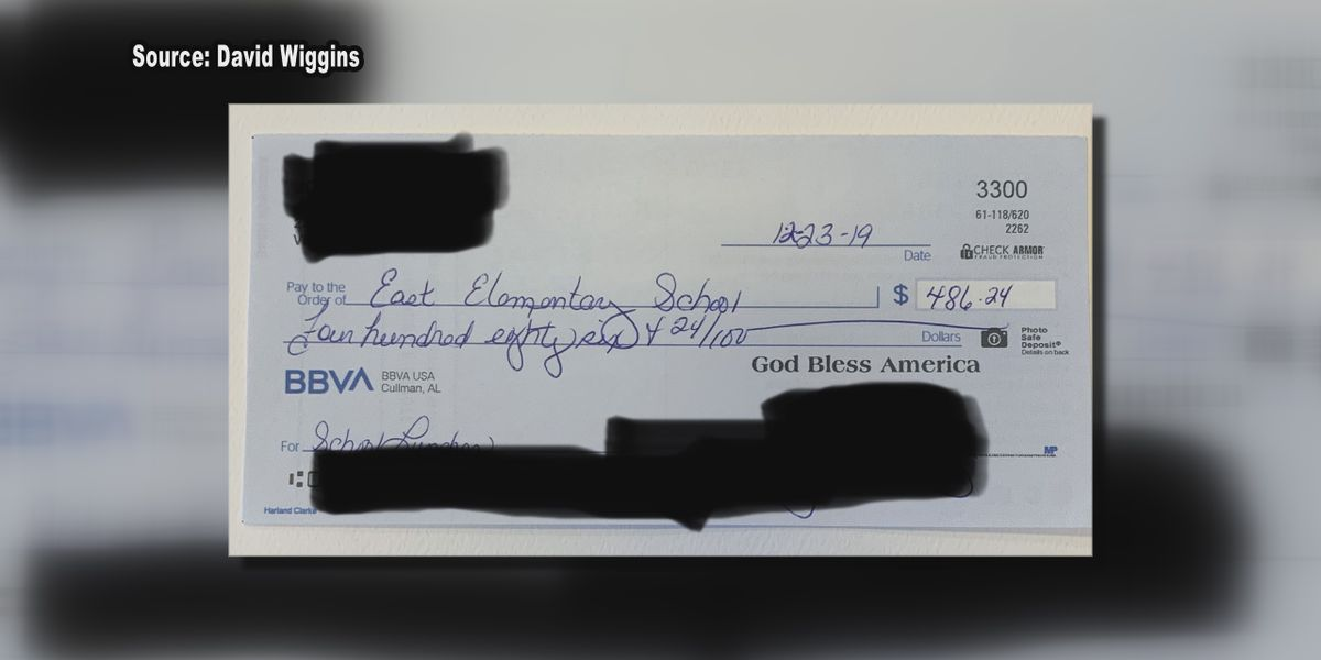 Stranger pays off students' school lunch debt in Cullman; blessings keep coming