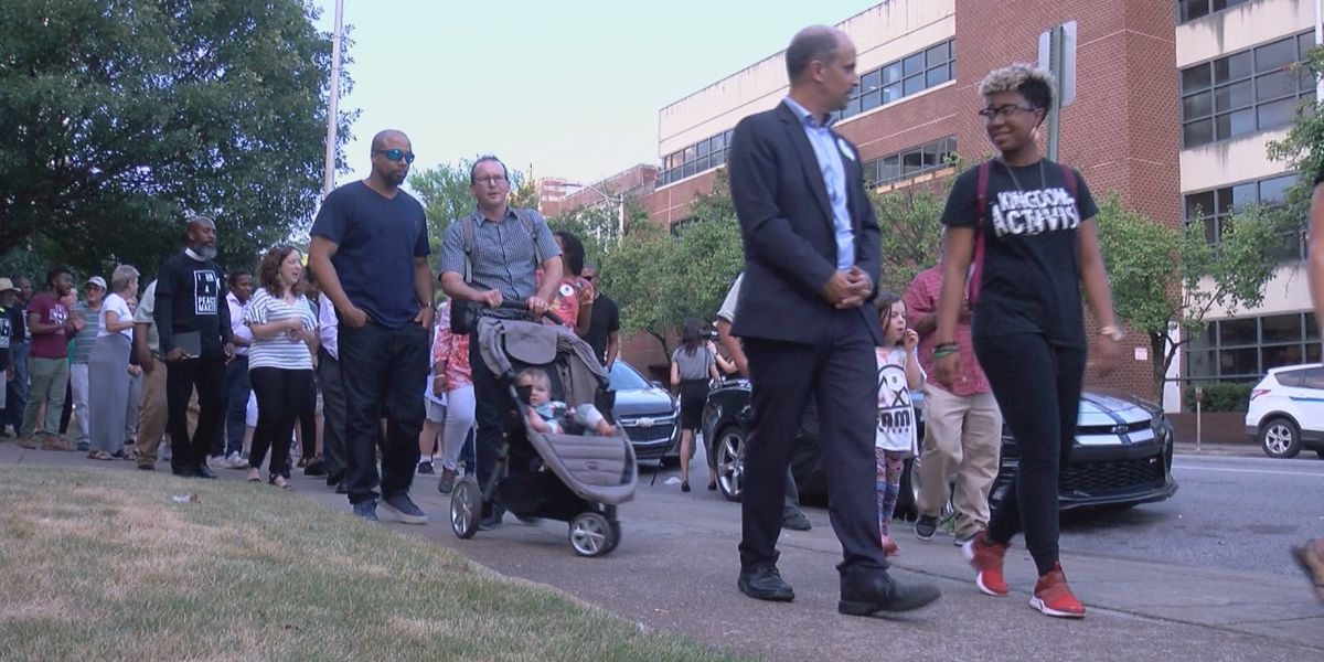 Local faith leaders walk the streets for peace after officer-involved shooting
