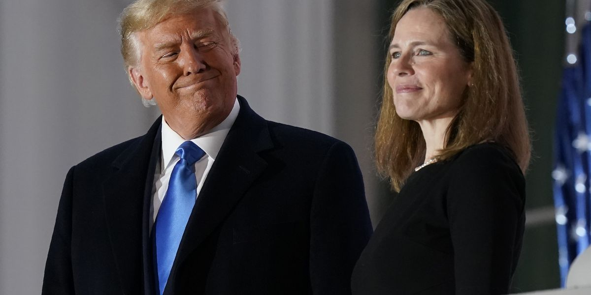 Barrett sworn in at court as issues important to Trump await