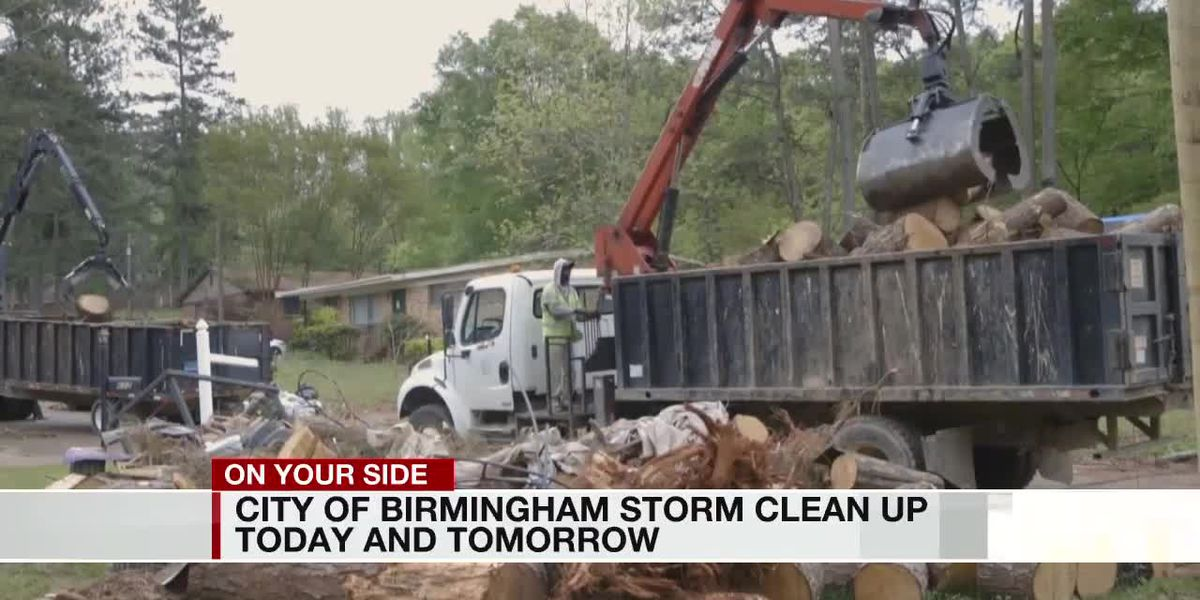 City of Birmingham storm cleanup Friday and Saturday