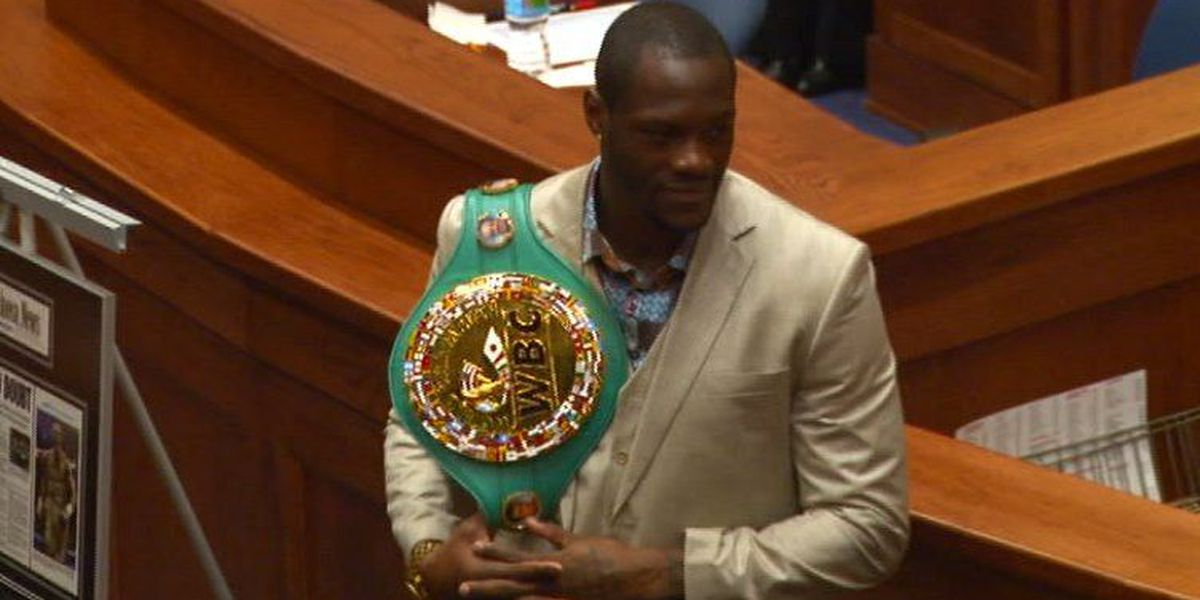 Heavyweight champion Deontay Wilder honored by state lawmakers