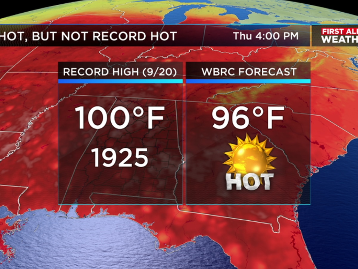 Another hot day is on tap