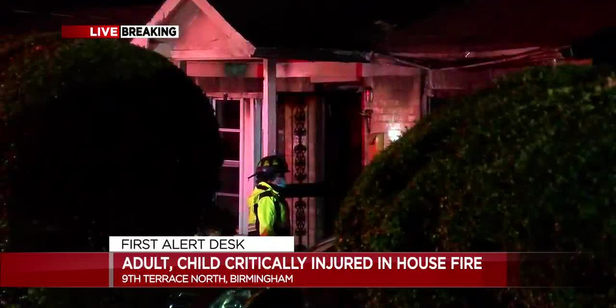 Adult, small child injured in Birmingham house fire