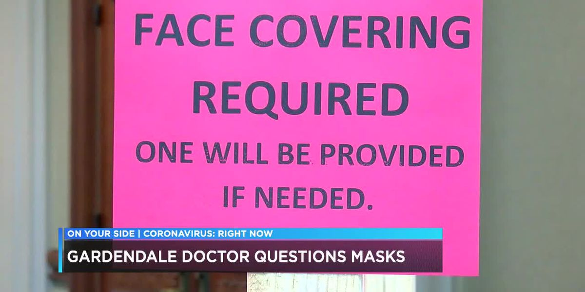 Gardendale doctor questions masks