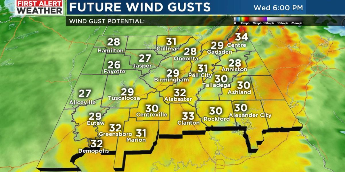 First Alert for colder temperatures with windy conditions Wednesday evening