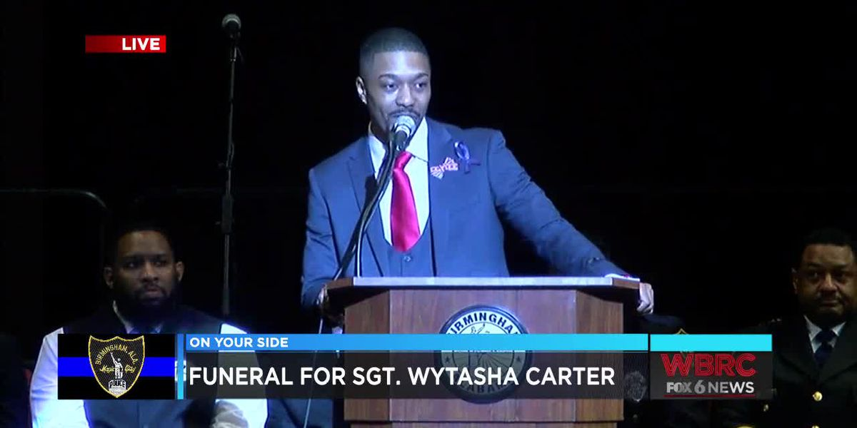 Remembering Sgt. Carter: Mr. William White speaks at Sgt. Carter's funeral