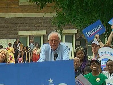 Bernie Sanders speaks in Birmingham