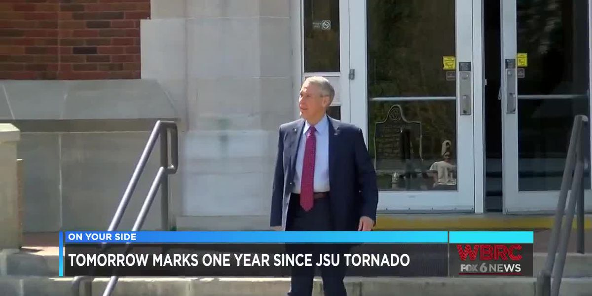 Tomorrow marks one year since JSU tornado