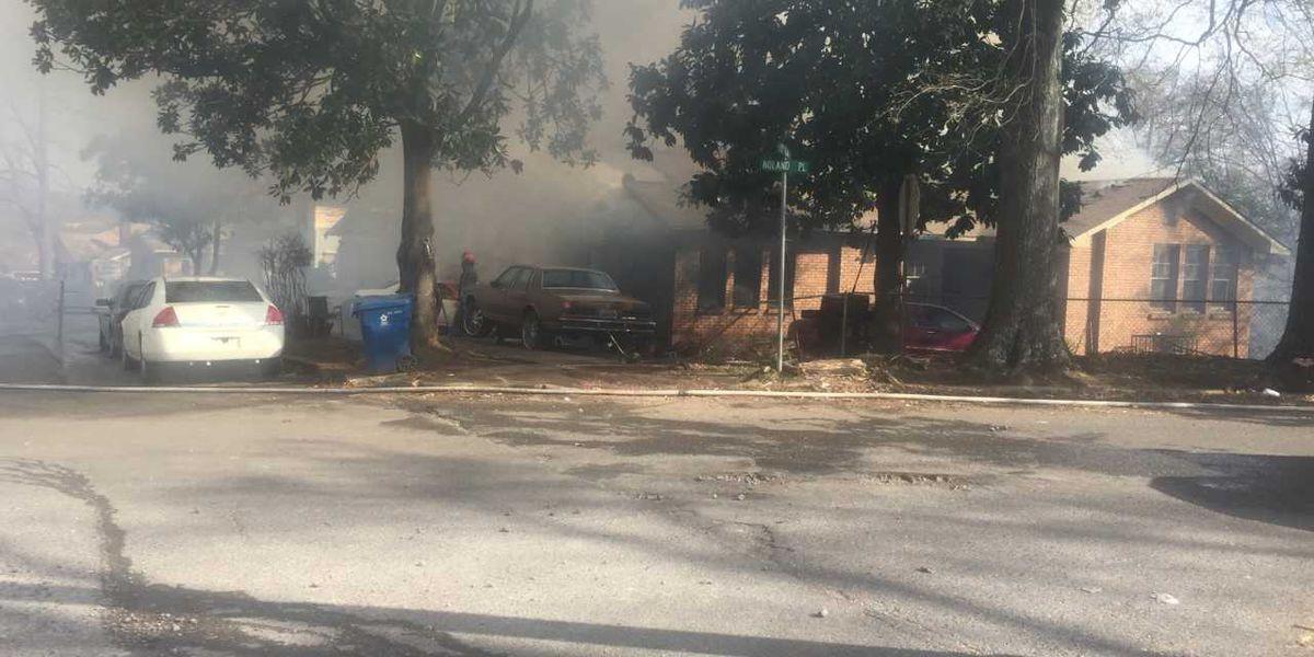 Birmingham, Fairfield fire crews battling house fire