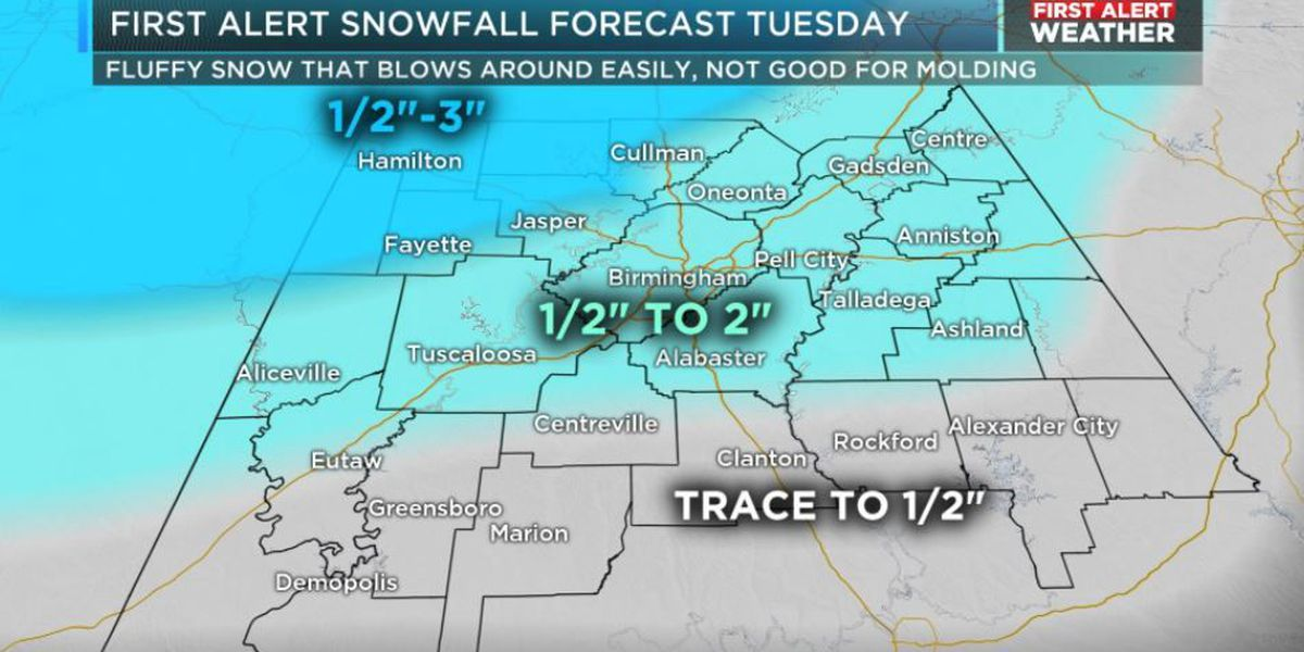 FIRST ALERT Weather Day Tuesday for snow and treacherous travel conditions