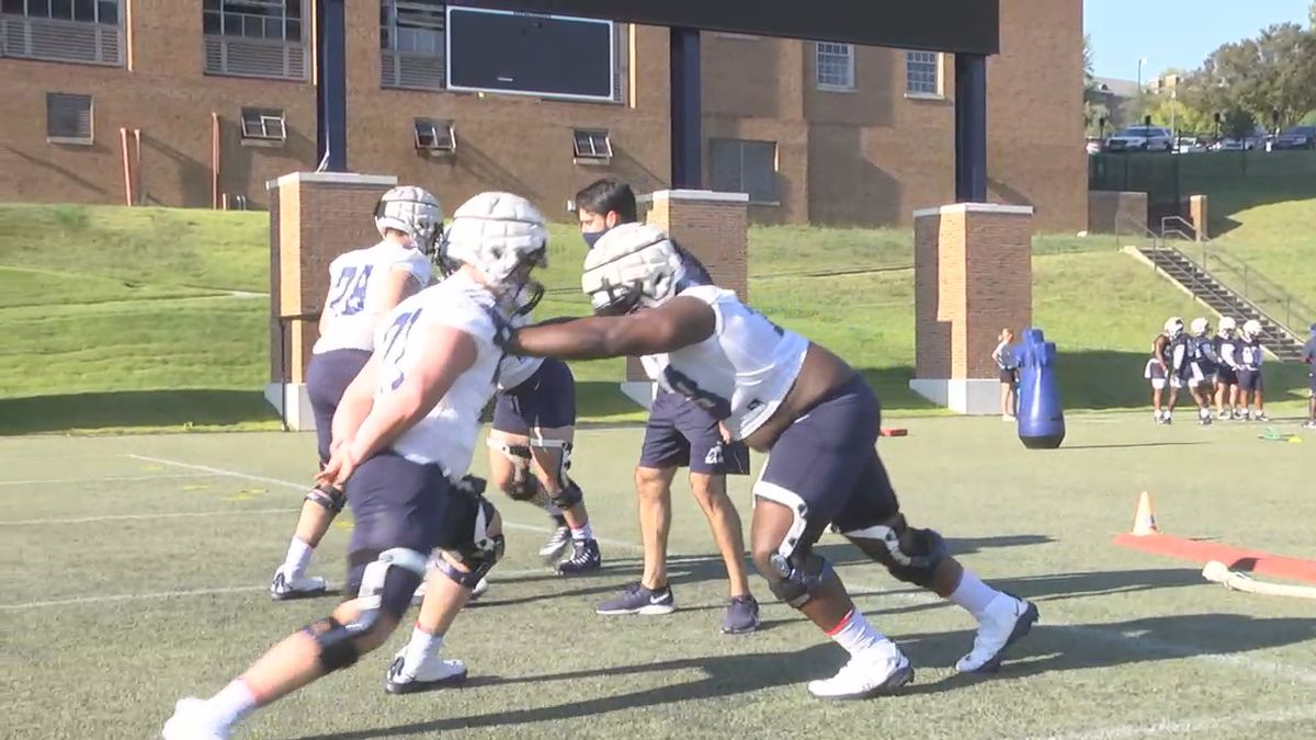 Samford football returns to the practice field