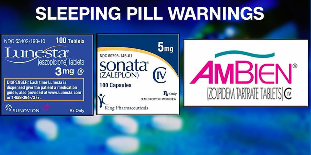 FDA: 20 deaths blamed on commonly used sleeping pills