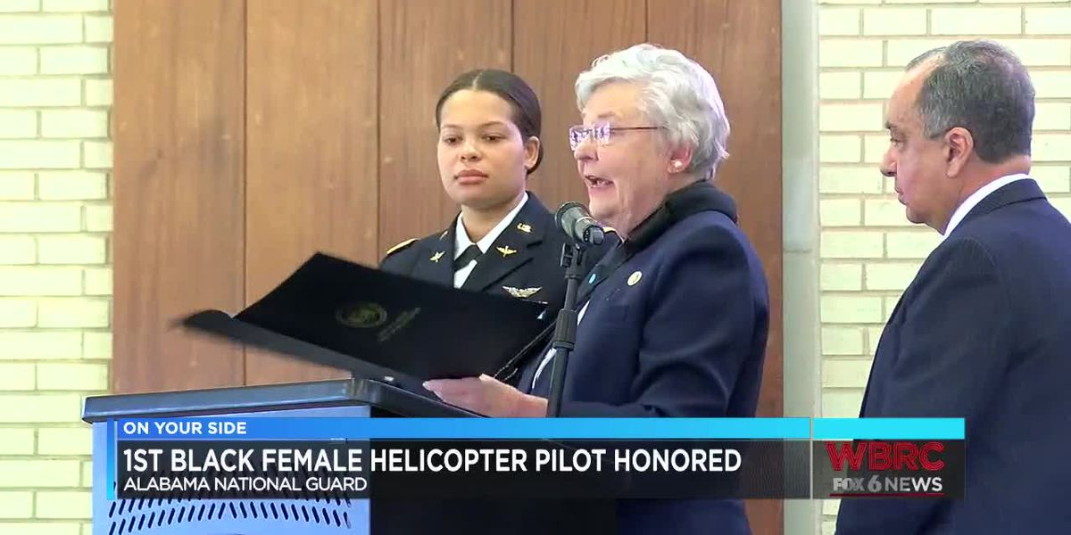 1st black female helicopter pilot of Alabama National Guard honored
