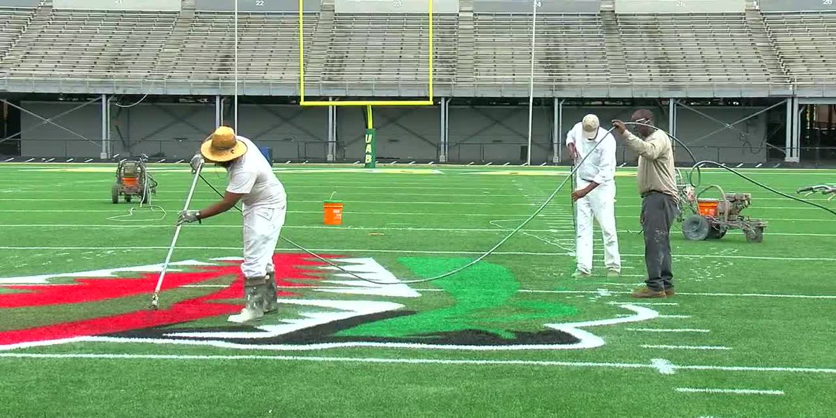 Crews get Legion Field ready for return to football