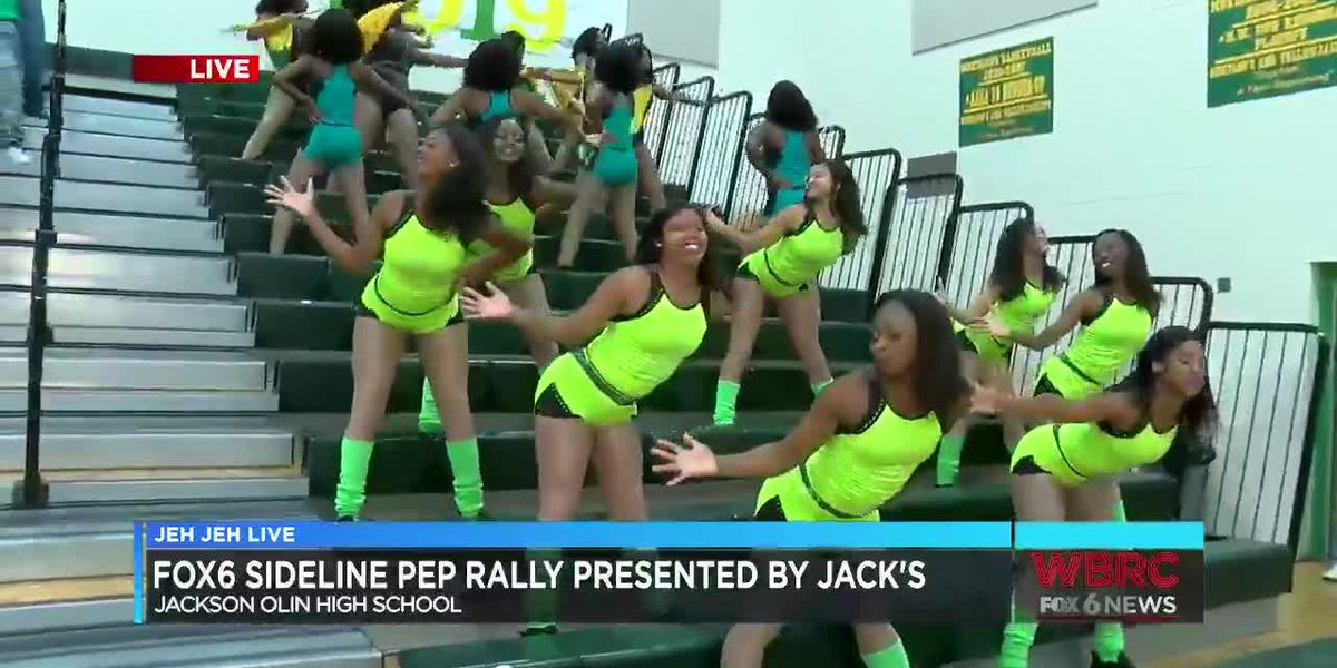 Jeh Jeh Live WBRC FOX6 News Sideline Pep Rally: Jackson-Olin High School (Part 2)