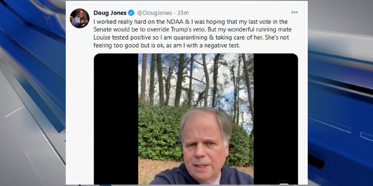Sen. Doug Jones in quarantine after wife's positive COVID-19 test