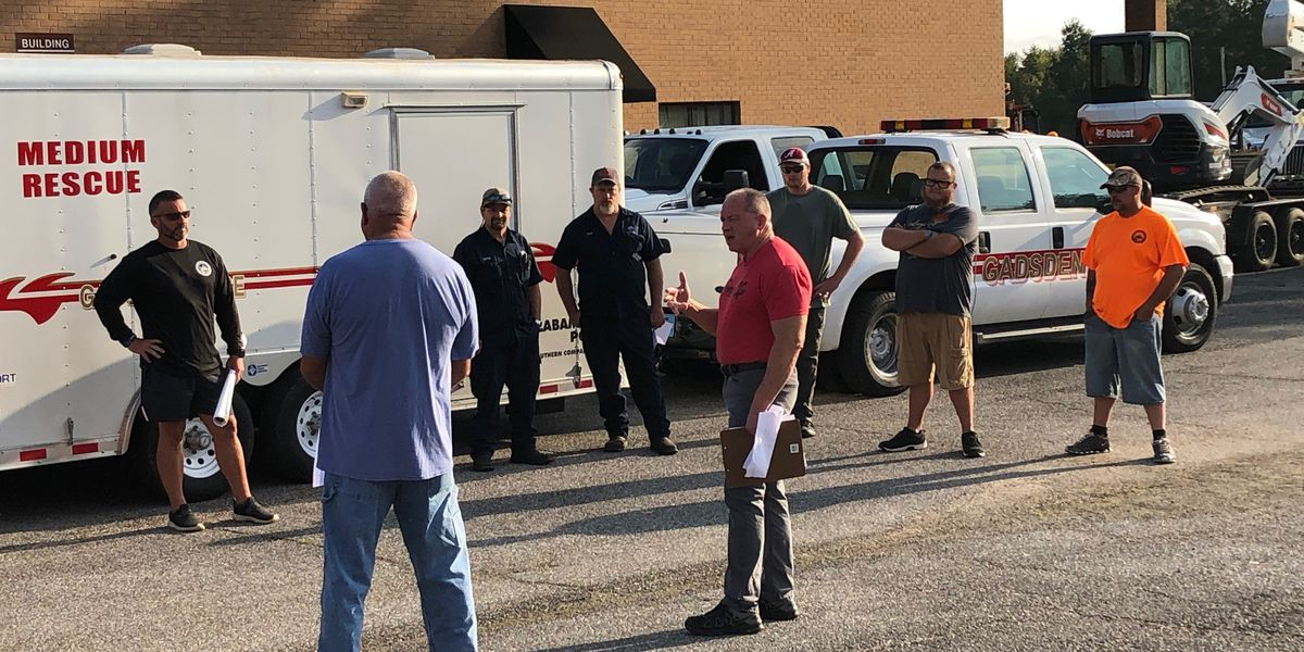 Gadsden city workers head out to Baldwin County to assist in hurricane cleanup