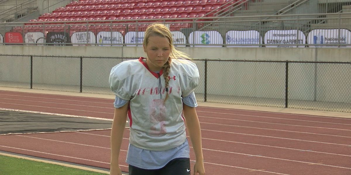Female kicker making history at Hewitt-Trussville