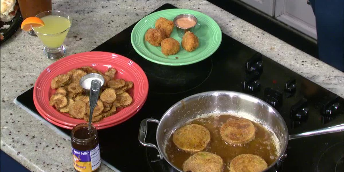 Flying Biscuit: Fried Green Tomatoes and Cashew Relish