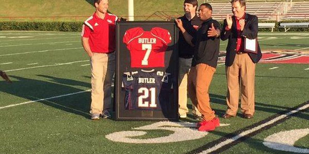 Super Bowl hero Malcolm Butler visits UWA for their spring game