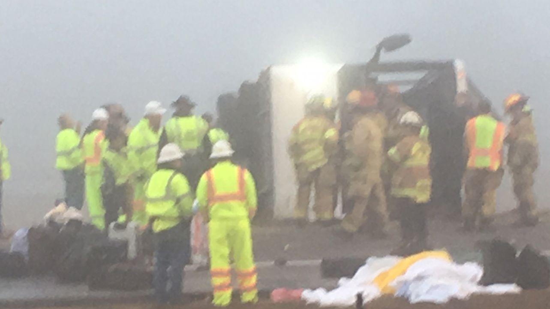 2 dead, multiple injured in bus crash on I-95
