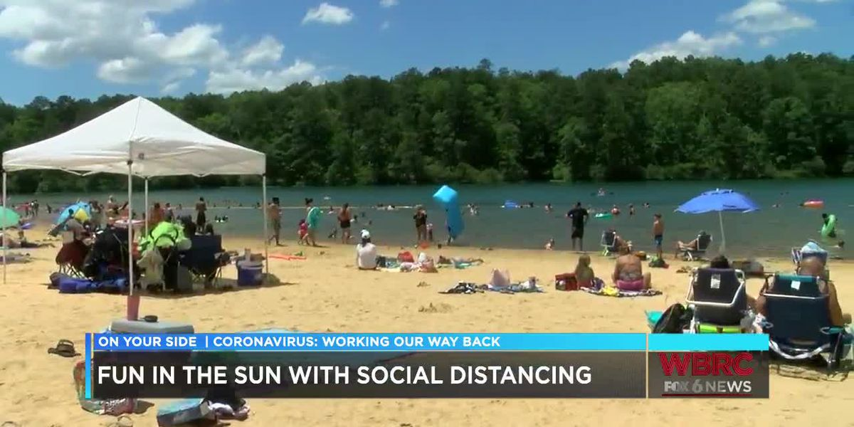 Beachgoers head to Oak Mountain State Park for Memorial Day