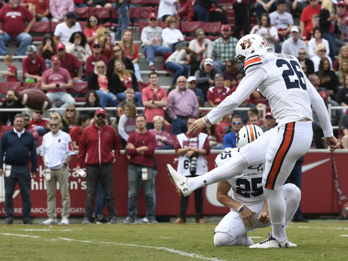 Auburn breaks FBS record in second half against Arkansas