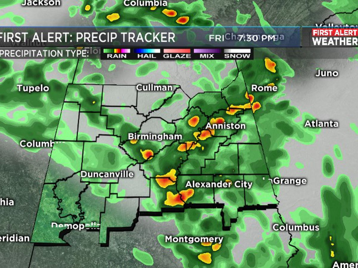 FIRST ALERT: Scattered heavy downpours Friday night