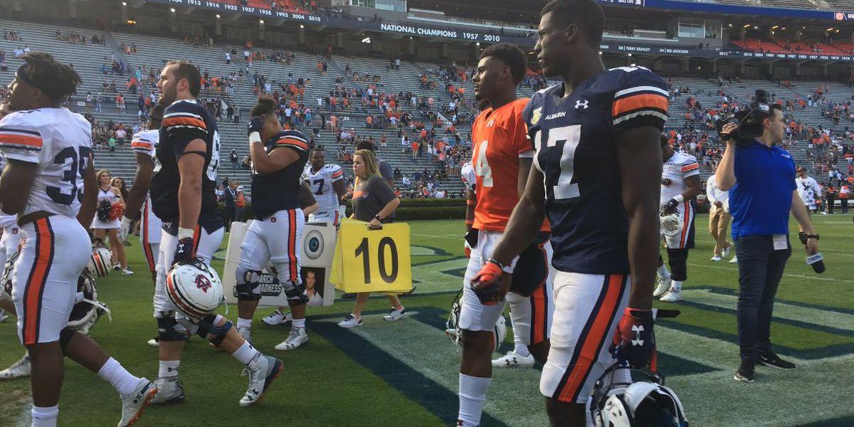 Malzahn pleased with quarterbacks after Auburn spring game