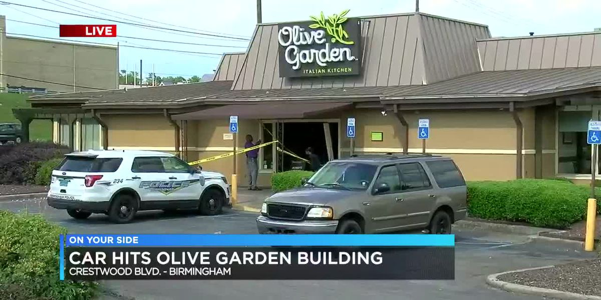 Car drives through front of B'ham Olive Garden