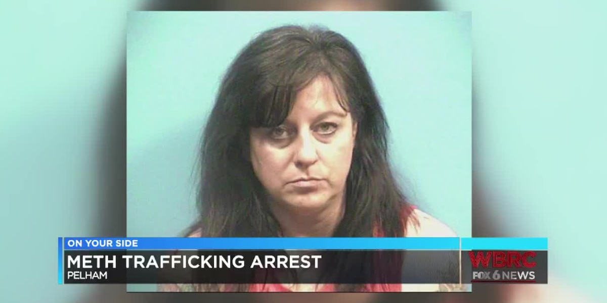 Woman arrested in Pelham, charged with trafficking meth