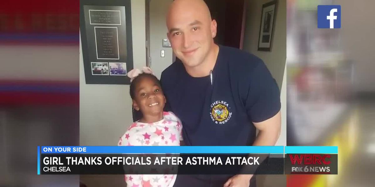 Girl thanks Chelsea Fire & Rescue after asthma attack