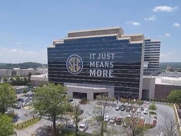 SEC Football Media Days leaving Hoover