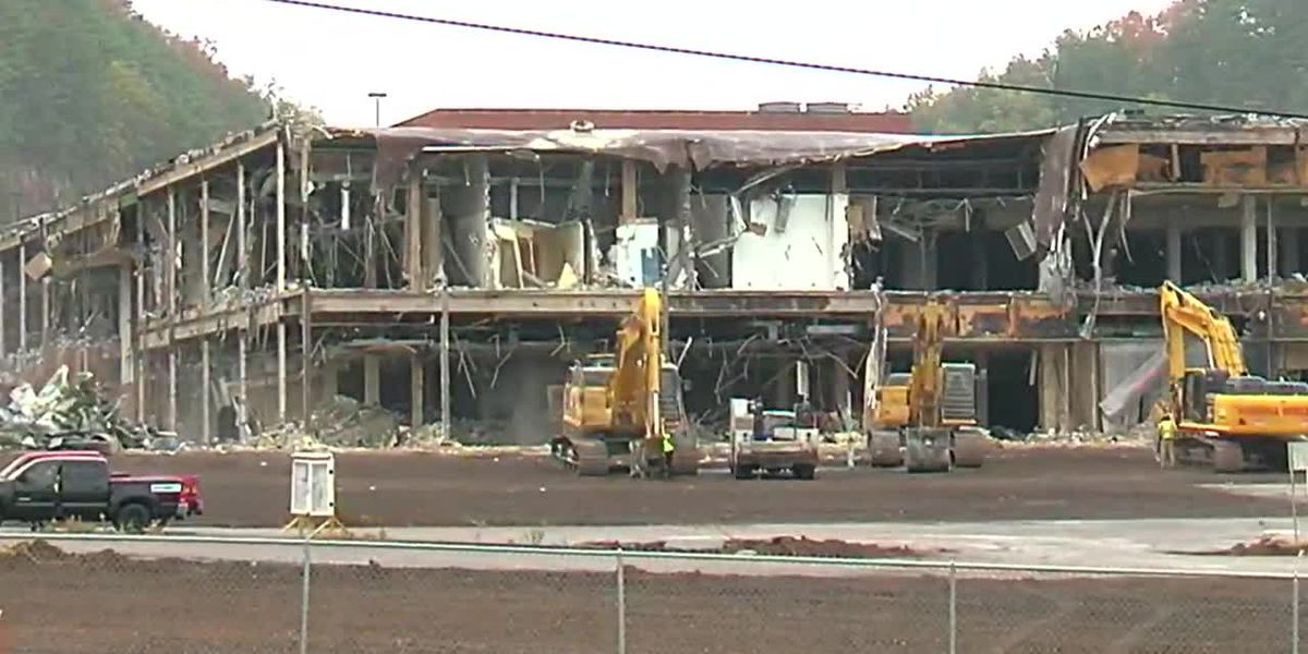 Demolition begins for old Century Plaza that will become logistics center