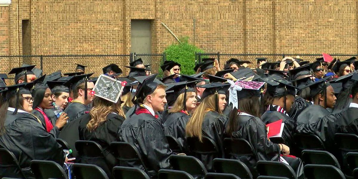 Jacksonville State holds first graduation following tornado
