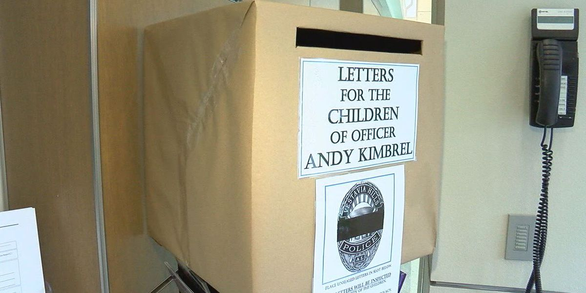 Vestavia Hills PD collecting letters for children of officer killed