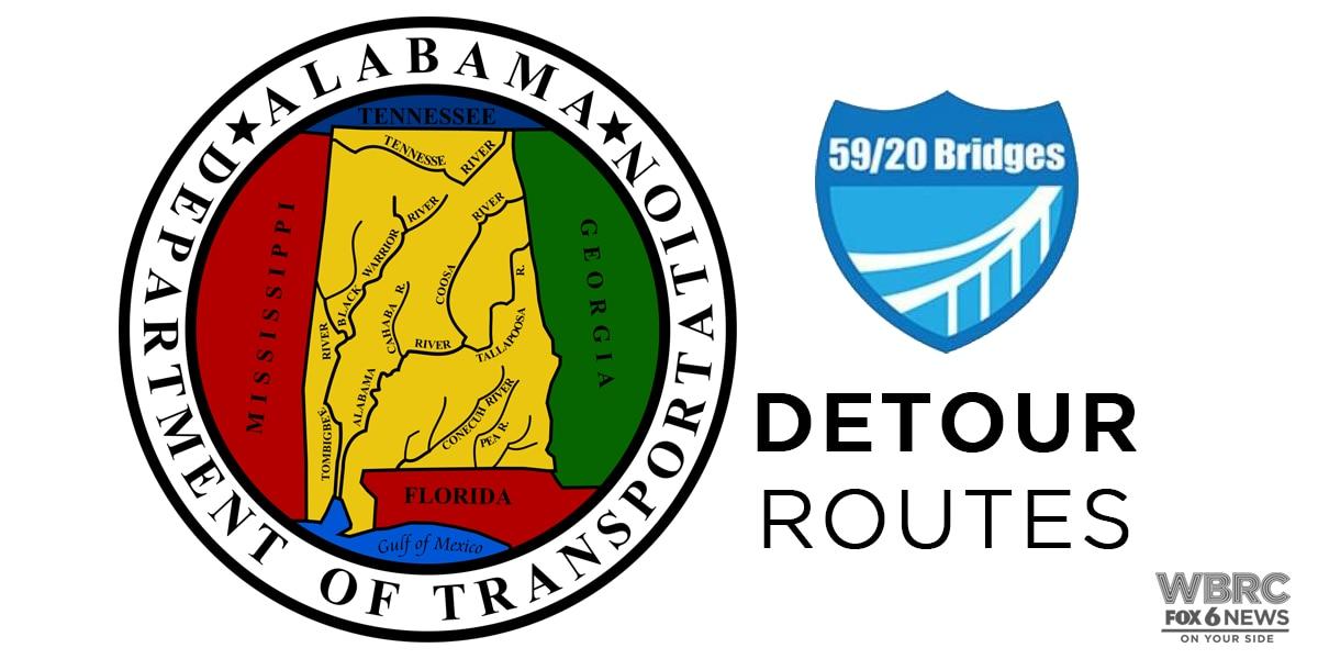 I-59/20 Bridge Closure: Detour Routes