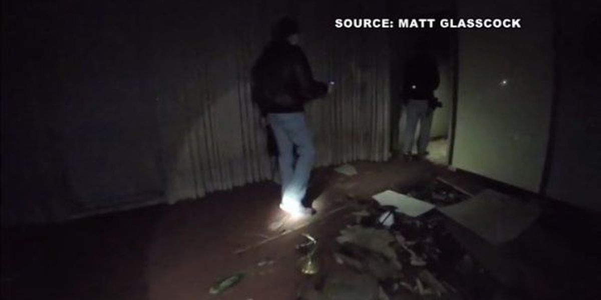 YouTube video documents inside the abandoned Memorial Mound mausoleum