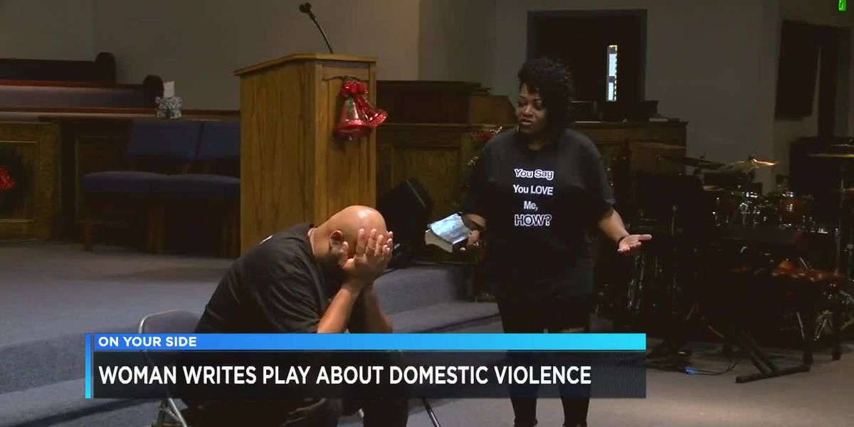 Woman writes play about domestic violence