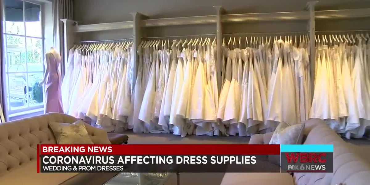 Coronavirus delaying bridal gown shipments