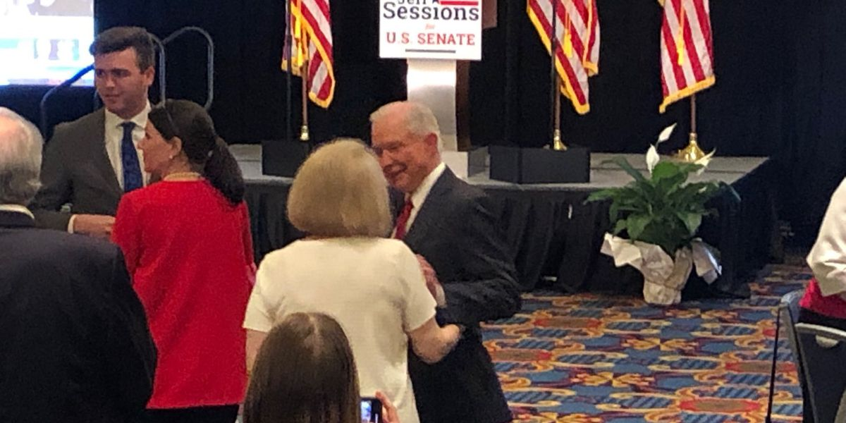 Sessions supporters happy about the early results Tuesday night