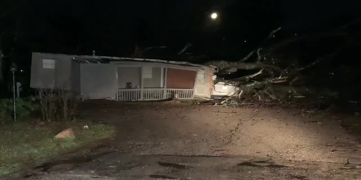 Damage at Rusk Mobile Home Park