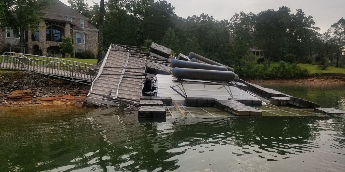 Storm damage at Smith Lake