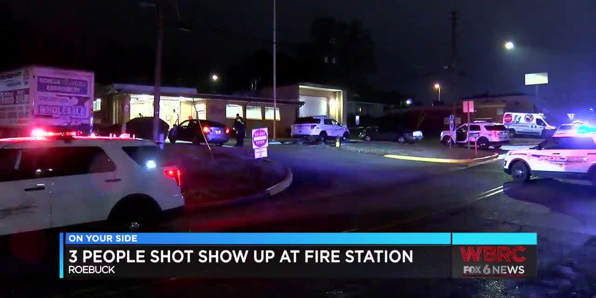 3 people shot show up at fire station in Roebuck
