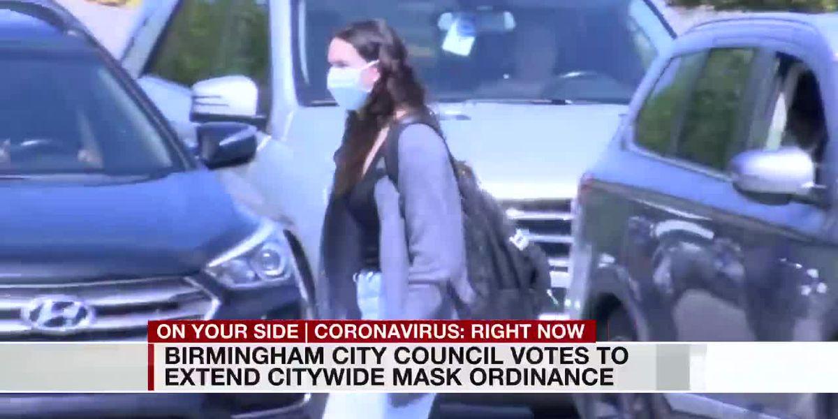 Birmingham mask mandate extended until May 24