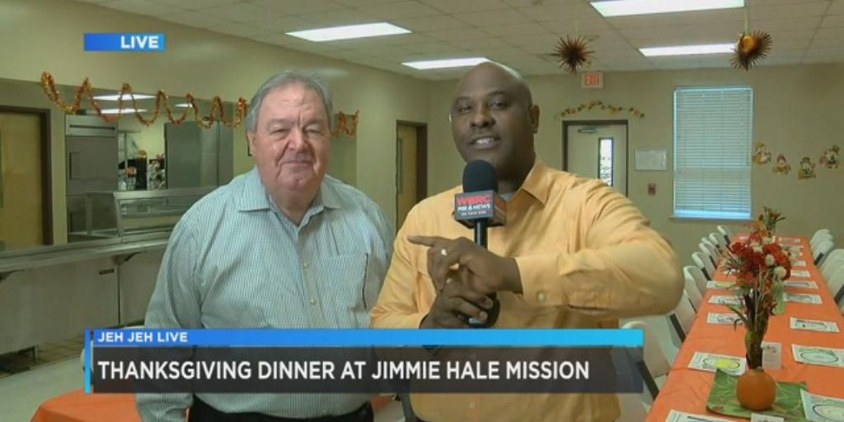 Jeh Jeh Live: Thanksgiving meals at Jimmie Hale Mission