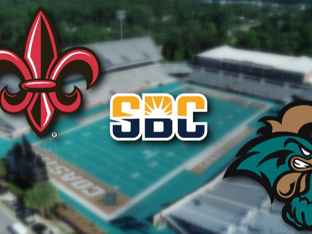 Coastal Carolina, Louisiana named co-champions after Sun Belt championship canceled