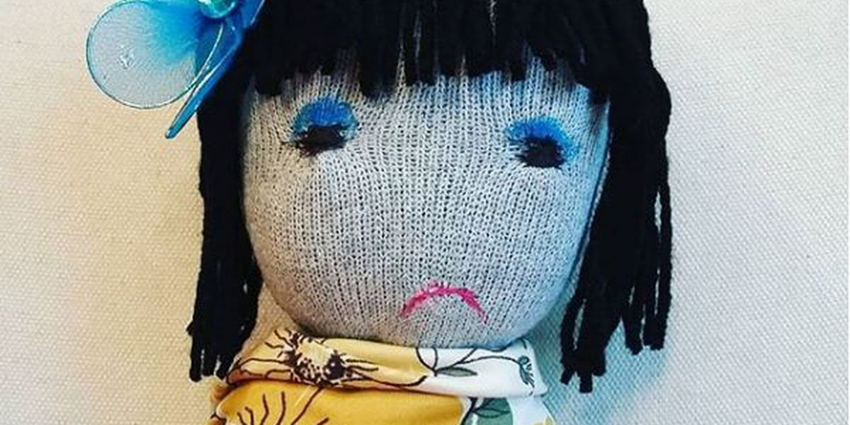 Mother creates frowny face dolls to help kids express emotions