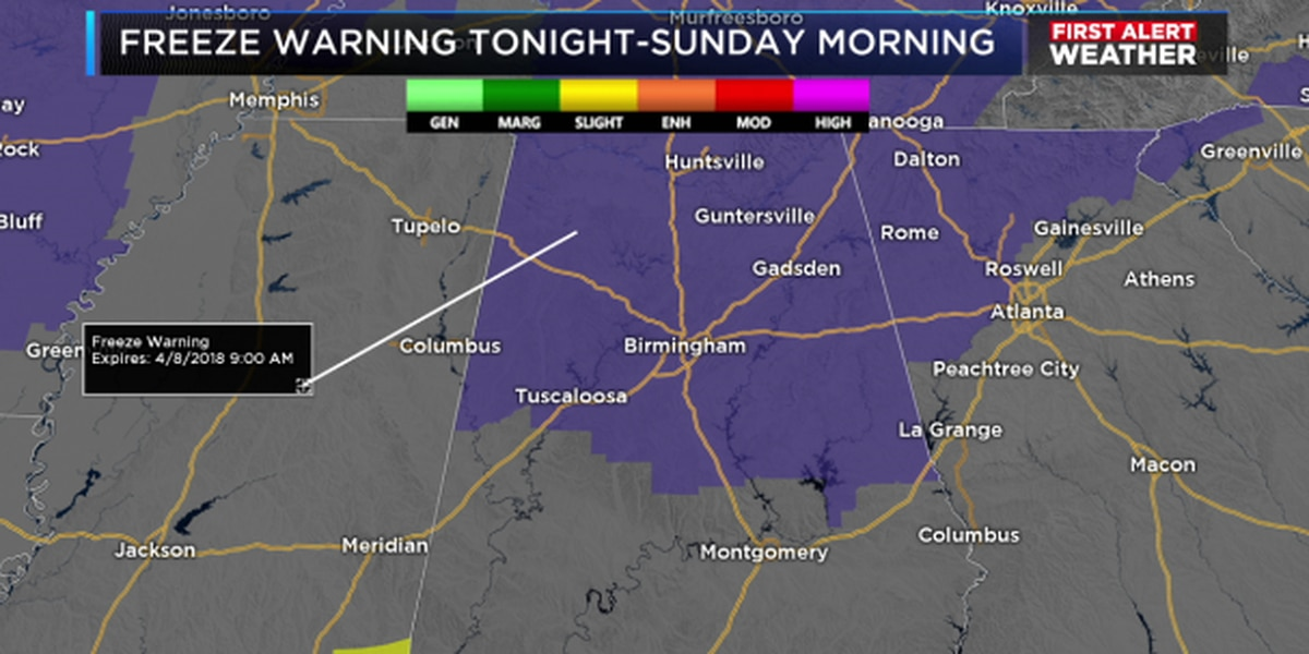 FIRST ALERT: Freezing, windy conditions this weekend