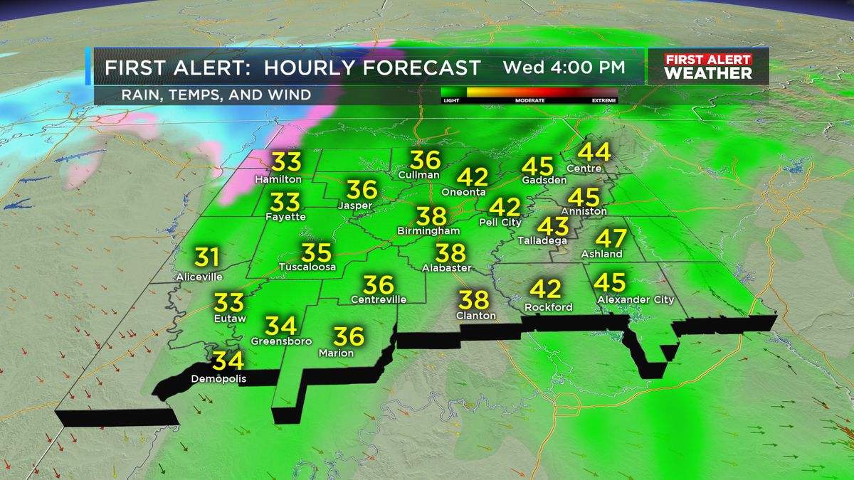 FIRST ALERT: Rain ending with chilly air to follow
